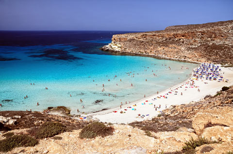 Photo of Lampedusa in South-West Sicily