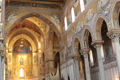 mosaics in Monreale cathedral